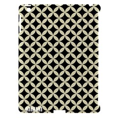 Circles3 Black Marble & Beige Linen Apple Ipad 3/4 Hardshell Case (compatible With Smart Cover) by trendistuff