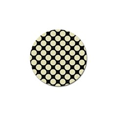 Circles2 Black Marble & Beige Linen Golf Ball Marker by trendistuff