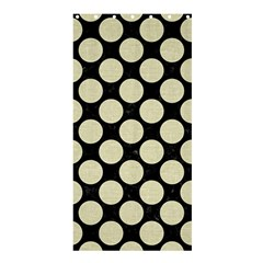 Circles2 Black Marble & Beige Linen Shower Curtain 36  X 72  (stall) by trendistuff