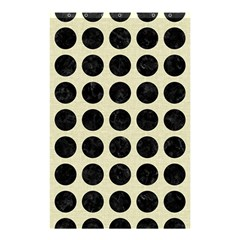 Circles1 Black Marble & Beige Linen (r) Shower Curtain 48  X 72  (small) by trendistuff