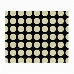 Circles1 Black Marble & Beige Linen Small Glasses Cloth by trendistuff