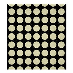 Circles1 Black Marble & Beige Linen Shower Curtain 66  X 72  (large) by trendistuff