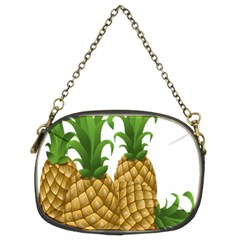 Pineapples Tropical Fruits Foods Chain Purses (two Sides)  by Nexatart