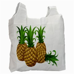 Pineapples Tropical Fruits Foods Recycle Bag (two Side)  by Nexatart