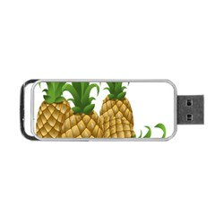 Pineapples Tropical Fruits Foods Portable Usb Flash (two Sides) by Nexatart