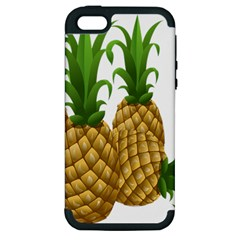 Pineapples Tropical Fruits Foods Apple Iphone 5 Hardshell Case (pc+silicone) by Nexatart