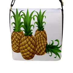 Pineapples Tropical Fruits Foods Flap Messenger Bag (l)  by Nexatart