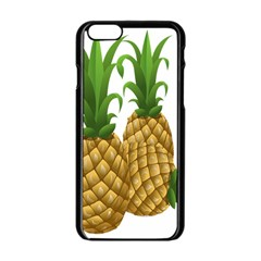 Pineapples Tropical Fruits Foods Apple Iphone 6/6s Black Enamel Case by Nexatart