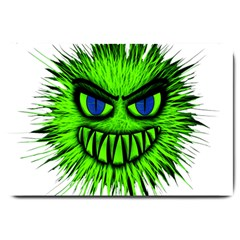 Monster Green Evil Common Large Doormat  by Nexatart
