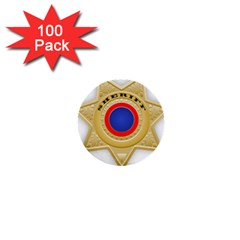 Sheriff S Star Sheriff Star Chief 1  Mini Buttons (100 Pack)  by Nexatart