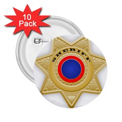 Sheriff S Star Sheriff Star Chief 2 25  Buttons (10 Pack)  by Nexatart
