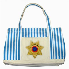 Sheriff S Star Sheriff Star Chief Striped Blue Tote Bag by Nexatart