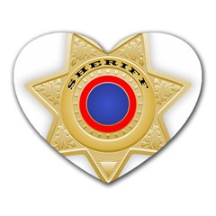 Sheriff S Star Sheriff Star Chief Heart Mousepads by Nexatart