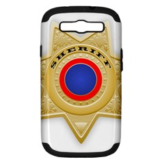 Sheriff S Star Sheriff Star Chief Samsung Galaxy S Iii Hardshell Case (pc+silicone) by Nexatart
