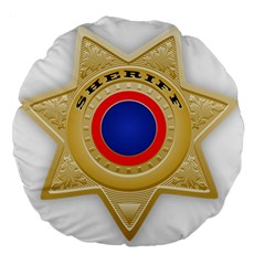 Sheriff S Star Sheriff Star Chief Large 18  Premium Round Cushions