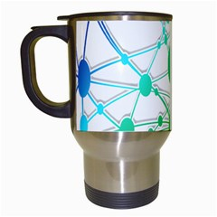 Network Connection Structure Knot Travel Mugs (white) by Nexatart