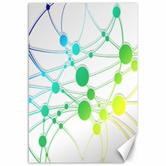 Network Connection Structure Knot Canvas 12  X 18