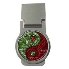Tao Duality Binary Opposites Money Clips (round)