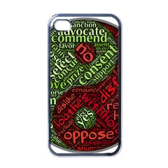 Tao Duality Binary Opposites Apple Iphone 4 Case (black)