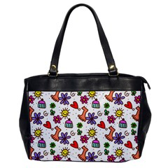 Doodle Pattern Office Handbags by Nexatart