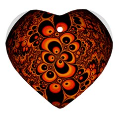 Fractals Ball About Abstract Heart Ornament (two Sides)