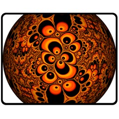 Fractals Ball About Abstract Double Sided Fleece Blanket (medium)