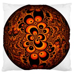 Fractals Ball About Abstract Large Flano Cushion Case (one Side) by Nexatart