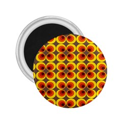 Seventies Hippie Psychedelic Circle 2 25  Magnets by Nexatart