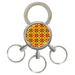 Seventies Hippie Psychedelic Circle 3 Ring Key Chains by Nexatart