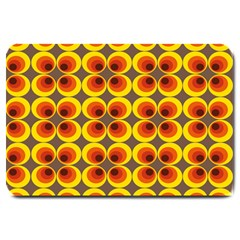 Seventies Hippie Psychedelic Circle Large Doormat  by Nexatart