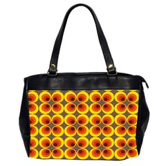 Seventies Hippie Psychedelic Circle Office Handbags (2 Sides)  by Nexatart