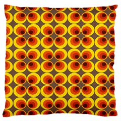 Seventies Hippie Psychedelic Circle Large Cushion Case (one Side) by Nexatart