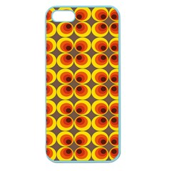 Seventies Hippie Psychedelic Circle Apple Seamless Iphone 5 Case (color) by Nexatart