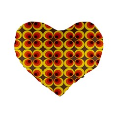 Seventies Hippie Psychedelic Circle Standard 16  Premium Heart Shape Cushions