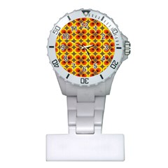 Seventies Hippie Psychedelic Circle Plastic Nurses Watch by Nexatart