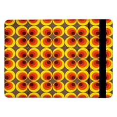 Seventies Hippie Psychedelic Circle Samsung Galaxy Tab Pro 12 2  Flip Case by Nexatart
