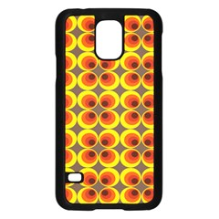 Seventies Hippie Psychedelic Circle Samsung Galaxy S5 Case (black) by Nexatart