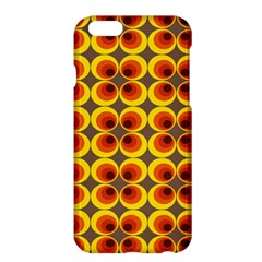 Seventies Hippie Psychedelic Circle Apple Iphone 6 Plus/6s Plus Hardshell Case by Nexatart