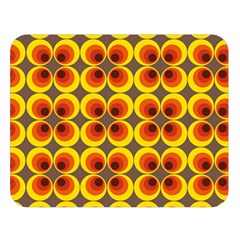 Seventies Hippie Psychedelic Circle Double Sided Flano Blanket (large)  by Nexatart