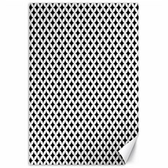 Diamond Black White Shape Abstract Canvas 20  X 30   by Nexatart