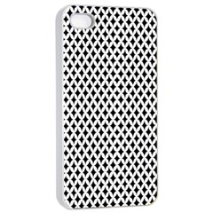 Diamond Black White Shape Abstract Apple Iphone 4/4s Seamless Case (white)