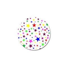 Stars Pattern Background Colorful Red Blue Pink Golf Ball Marker (4 Pack) by Nexatart