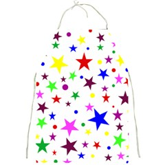 Stars Pattern Background Colorful Red Blue Pink Full Print Aprons
