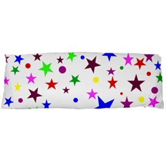 Stars Pattern Background Colorful Red Blue Pink Body Pillow Case Dakimakura (two Sides) by Nexatart