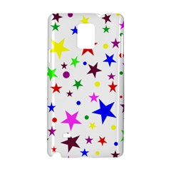 Stars Pattern Background Colorful Red Blue Pink Samsung Galaxy Note 4 Hardshell Case by Nexatart