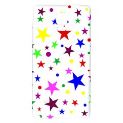 Stars Pattern Background Colorful Red Blue Pink Galaxy Note 4 Back Case by Nexatart