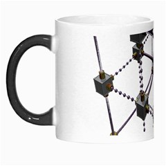 Grid Construction Structure Metal Morph Mugs by Nexatart