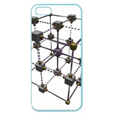 Grid Construction Structure Metal Apple Seamless Iphone 5 Case (color) by Nexatart