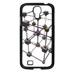 Grid Construction Structure Metal Samsung Galaxy S4 I9500/ I9505 Case (black) by Nexatart