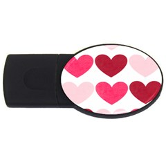 Valentine S Day Hearts Usb Flash Drive Oval (4 Gb) by Nexatart